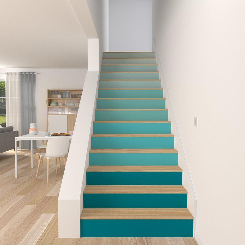 Decorer Un Escalier Autrement Avec Du Papier Peint 4murs