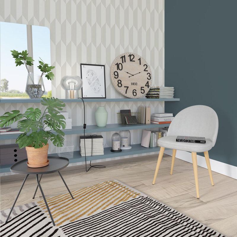Les couleurs neutres alli es sans faille de la d co 4murs - Papier peint 4 murs salon ...
