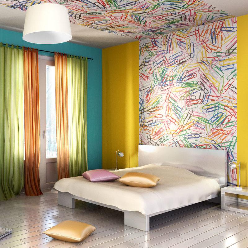 adoptez le papier peint en t te de lit pour une d co. Black Bedroom Furniture Sets. Home Design Ideas