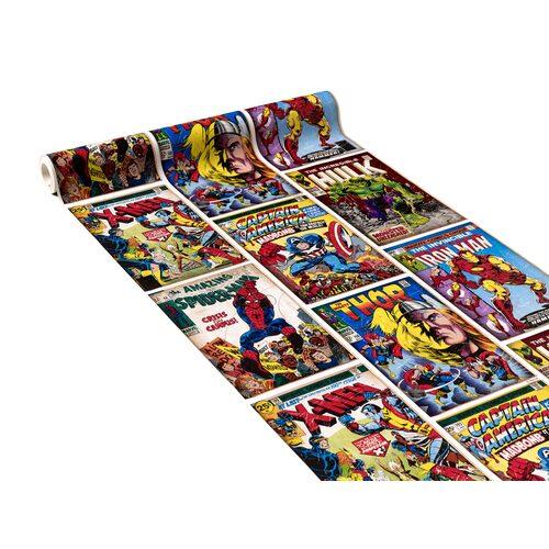 Papier Peint Heros Marvel Coloris Multicolore Multicolore Papier
