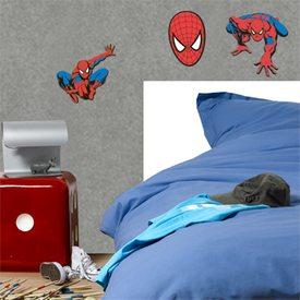 sticker en relief spiderman coloris rouge vif bleu jean 39 s sticker 4murs. Black Bedroom Furniture Sets. Home Design Ideas