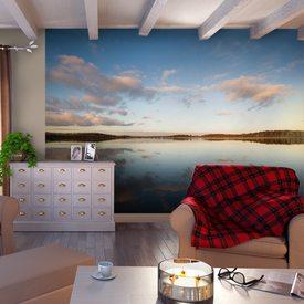 d cor mural num rique xxl horizon 372 x 270 cm brun havane poster intiss 4murs. Black Bedroom Furniture Sets. Home Design Ideas