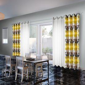 voilage triano coloris gris moyen 140 x 260 cm bambou rideau 4murs. Black Bedroom Furniture Sets. Home Design Ideas