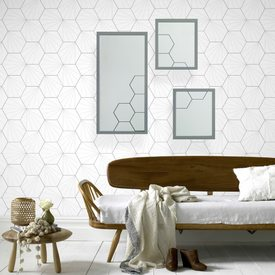 Miroir basil by sophie ferjani 55 x 60 cm tableau for Miroir 4 murs