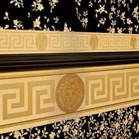 Frise Vinyle Versace Greco Coloris Or Or Mat Frise 4murs
