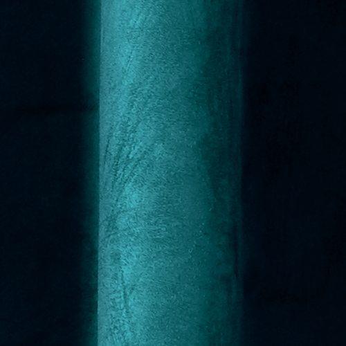 Rideau VELVET coloris bleu paon 140 x 260 cm