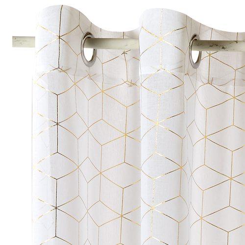voilage oria coloris or 140 x 240 cm blanc - rideau - 4murs