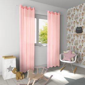 voilage lily coloris rose 140 x 240 cm rideau 4murs. Black Bedroom Furniture Sets. Home Design Ideas