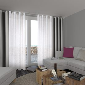 rideau anti feu coloris gris 140 x 300 cm rideau 4murs. Black Bedroom Furniture Sets. Home Design Ideas