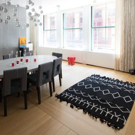 tapis berbere coloris noir divers 4murs. Black Bedroom Furniture Sets. Home Design Ideas