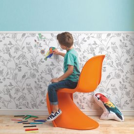 Frise intiss e colormi birds coloris blanc noir frise 4murs - Frise papier peint 4 murs ...