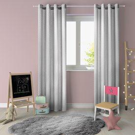 rideau lilou coloris gris 135 x 260 cm blanc rideau 4murs. Black Bedroom Furniture Sets. Home Design Ideas