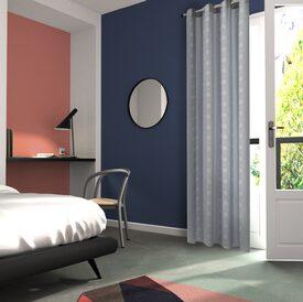 rideau yuko coloris noir 140 x 240 cm blanc rideau 4murs. Black Bedroom Furniture Sets. Home Design Ideas