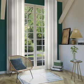 rideau eventail coloris cru 140 x 260 cm blanc rideau 4murs. Black Bedroom Furniture Sets. Home Design Ideas