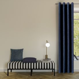 rideau wall street coloris bleu nuit 145 x 260 cm rideau 4murs. Black Bedroom Furniture Sets. Home Design Ideas