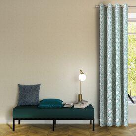 rideau ardecco coloris vert meraude 135 x 250 cm beige rideau 4murs. Black Bedroom Furniture Sets. Home Design Ideas