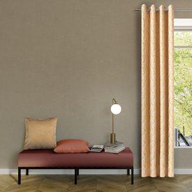 rideau ardecco coloris jaune moutarde 135 x 250 cm beige rideau 4murs. Black Bedroom Furniture Sets. Home Design Ideas