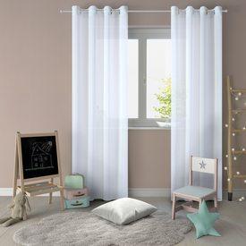voilage chantilly coloris bleu ciel 145 x 240 cm rideau 4murs. Black Bedroom Furniture Sets. Home Design Ideas