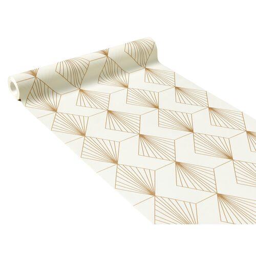 Papier Peint Intisse Gatsby Coloris Blanc Or Papier Peint 4murs